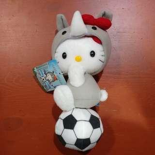 全新 日本 埼玉限定  Hello Kitty 犀牛造型 公仔