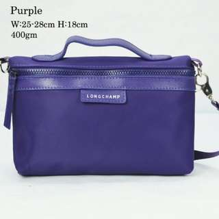 Longchamp Pouch Purple Color