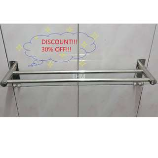 Stainless Steel 304 Double Bar Towel Hanger ( DISCOUNT!!! 30% OFF !!! )