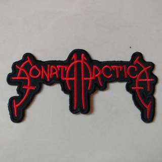 Sonata Arctica - Red Logo Shaped Woven Patch Band Merch