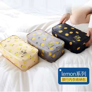 BN undergarments lemon printed bag