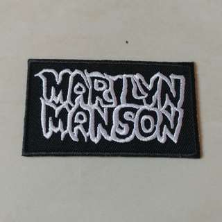 Marilyn Manson - Portrait of an American Family Logo Woven Patch Band Merch