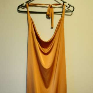 Copper cowell neck dress