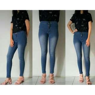 High Waist Jeans Wanita