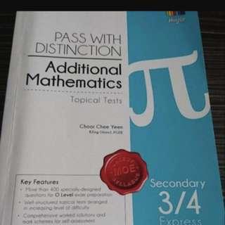 Tuition for Sec 3/4 A&E Maths @ $30/hr North Region