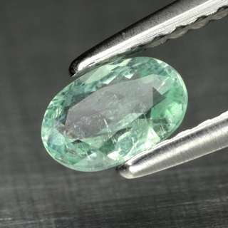 0.39ct Oval Light Green Natural Paraiba Tourmaline - COPPER BEARING