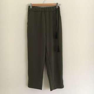 🚚 全新🔆墨綠色寬褲