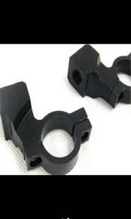 Mirror/fog/spot light mount holder clamp