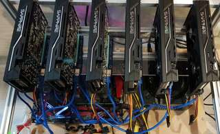 Sapphire 6 cards mining rig 27mhs to go