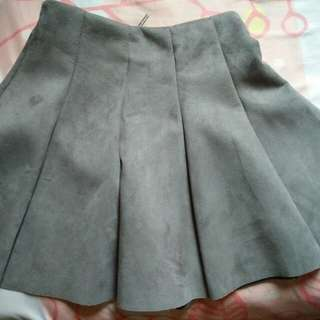 Skirt suede grey tally weijl Xs