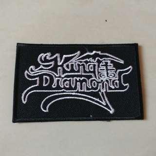 King Diamond - White Logo Woven Patch Band Merch