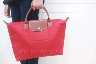 Authentic Longchamp medium short handle