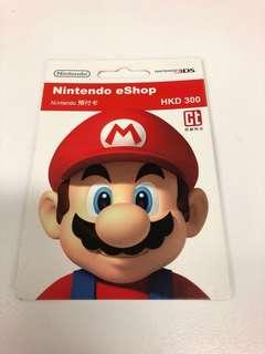 Nintendo 任天堂 e-shop 預付卡 ($300)