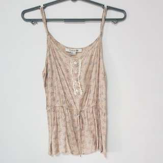 F21 relaxed spag top