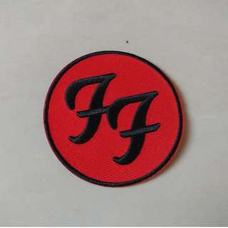 Foo Fighters - Red FF Logo Woven Patch Band Merch