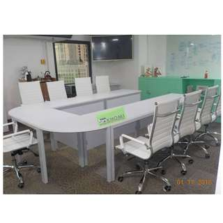 U SHAPE CUSTOMIZE CONFERENCE TABLE METAL LEGS--KHOMI
