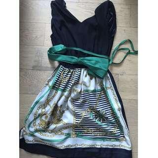 Donna Bella - chain print skater dress made in Korea