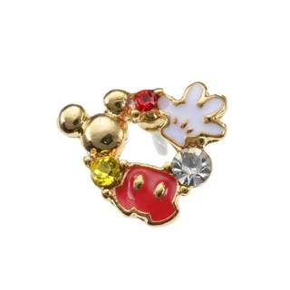 Japan Disneystore Disney Store Mickey Mouse Wreath Petit Jewelry Pierce (for one ear)