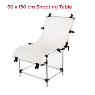 Pxel ST6X13 Foldable Shooting Table 60x130cm White Background Backdrop