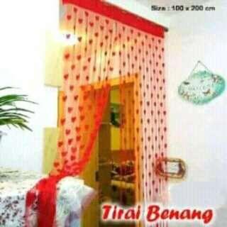 Tirai Benang Love Warna Pink