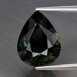 3.35ct Pear Natural Green Tourmaline