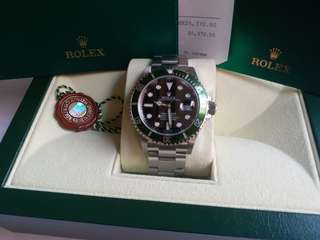 Rolex 16610lv Submariner 綠圈行纸92新
