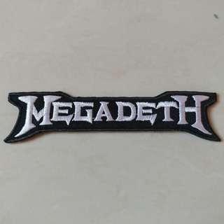 Megadeth - White Logo Shaped Woven Patch Band Merch