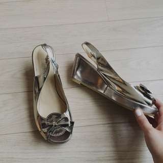 Silver wedges size 7.5