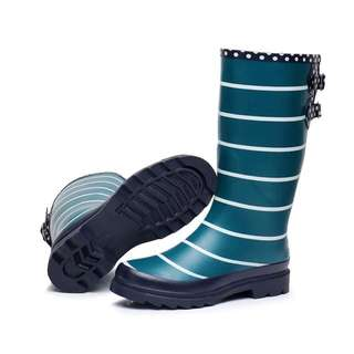 Size 36-40 Stripes Rain Boots