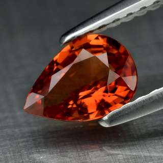 0.75ct Pear Natural Orange Sapphire