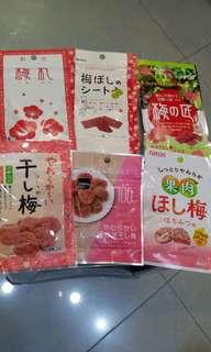 日本梅片乾$15 Japan