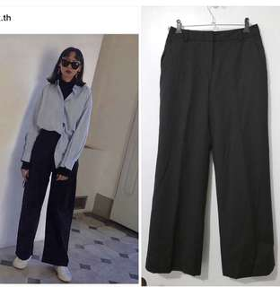 Black Ankle-Length Pants (Casual/Workwear)