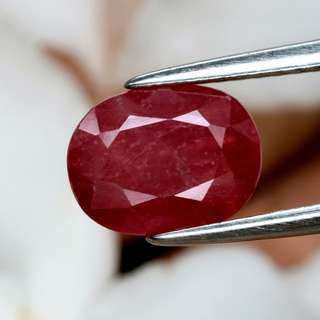 2.33ct Oval Natural Orangey Red Sapphire