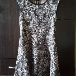 Unbranded Black and Grey printed dress