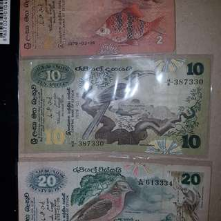 Old Notes (bank of Ceylon)