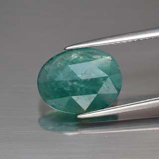 World's Rarest Gem 2.70ct Oval Rose-Cut Natural Greenish Blue Grandidierite