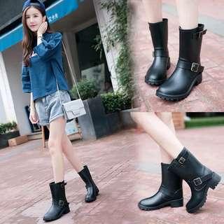 Size 35-40 Chunky Heels Rain Boots