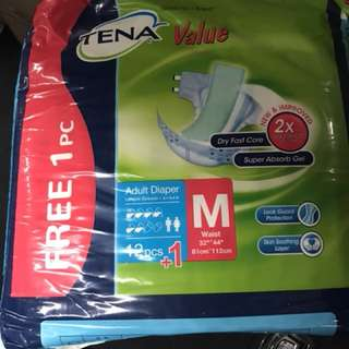 Tena Adult pampers x 4 packs of 13 pieces each (sizeM)