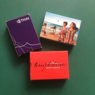 Vintage MAS, SIA, Thai Airways Airlines playing cards