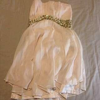 🚚 粉色雪紡紗小禮服