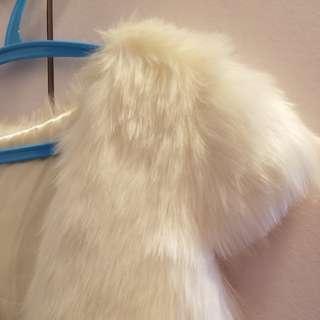 毛毛外套 (米白色)