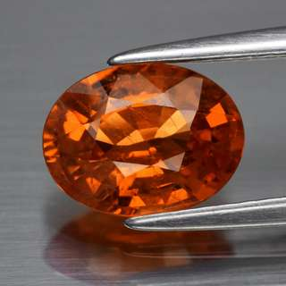 1.71ct Oval Natural Orange Spessartite Garnet