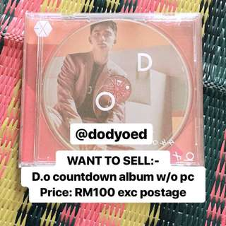 [OFFICIAL] EXO D.O COUNTDOWN JAPAN ALBUM W/O PC
