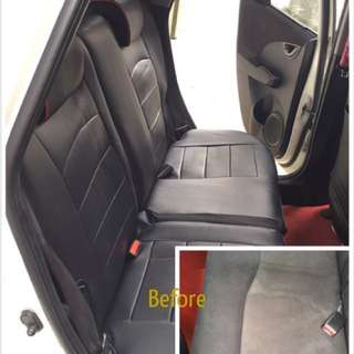 Honda Fit leather seat cover (customise)