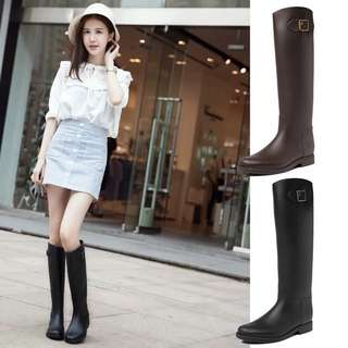 Size 36-39 Chunky Heels High Rain Boots