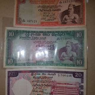 Old Notes (bank of Ceylon) 2nd set