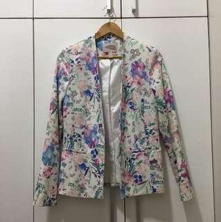 Forever21 floral blazer