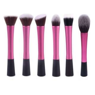Pink Black Makeup Brushes (Individual)