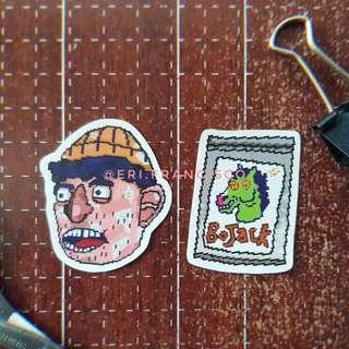 Paper Mache Todd Head & Drug BoJack Stickers