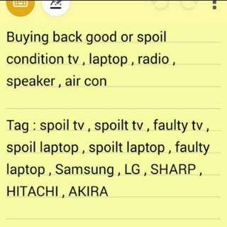 Cash for all your spoilt tv speaker soundbar  and all electronics